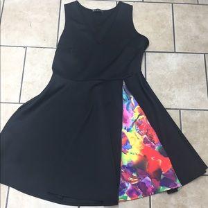 Fashion to figure black skater dress